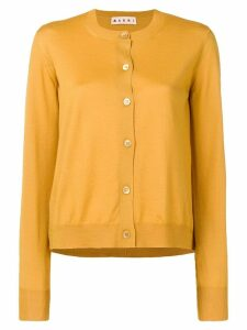 Marni crew neck cardigan - Yellow