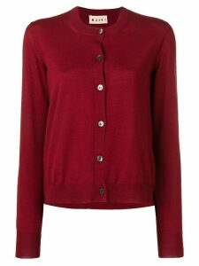 Marni crew neck cardigan - Red