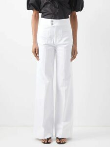Bella Freud - 24 Heures Intarsia Cashmere Zip Through Sweater - Womens - Black Multi