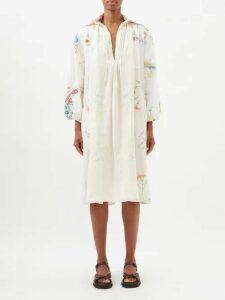 Bella Freud - Girl Intarsia Wool Sweater - Womens - White Multi