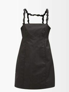 Palmer//harding - Trap Ruffled Cotton-blend Poplin Shirt - Womens - Navy