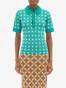 Simone Rocha - Floral Embroidered Tulle Midi Dress - Womens - Black Multi