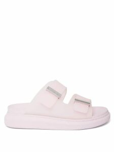 Jw Anderson - Twisted Plaque Leather And Canvas Ankle Boots - Womens - Black Cream