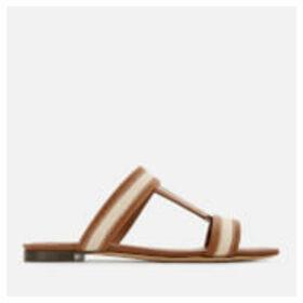 Tod's Women's Mule Flat Sandals - Bianco Marmo/Cognac