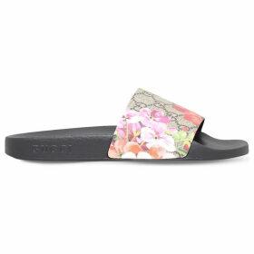 Gucci Pursuit chevron slides, Women's, Size: EUR 37 / 4 UK WOMEN, Beige comb