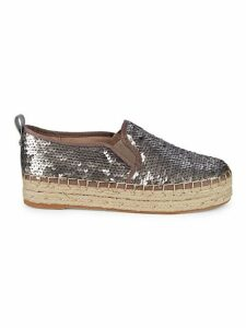 Carrinna Matte Sequin Loafer Espadrilles