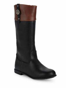 Little Girl's & Girl's Andrea Nameplate Mid-Calf Boots