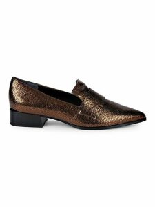 Nebby Metallic Leather Loafers
