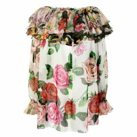 Dolce and Gabbana Floral Silk Blouse