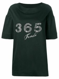Fendi Pre-Owned 1980's 365 rhinestone T-shirt - Black