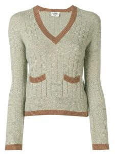 Chanel Pre-Owned 1997's V-neck jumper - Neutrals