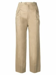 Jean Louis Scherrer Pre-Owned 1970's straight cropped trousers -