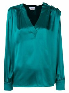 Yves Saint Laurent Pre-Owned 1980's gathered detailing blouse - Green