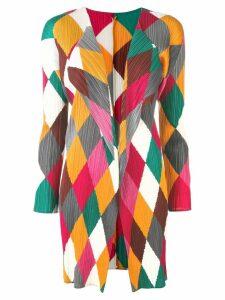 Issey Miyake Pre-Owned Pleats Please diamond print cardigan - Red