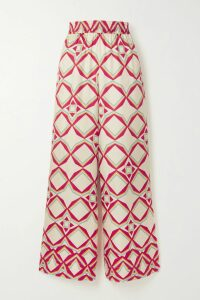 Paco Rabanne - Broderie Anglaise Cotton-poplin Midi Dress - Blue
