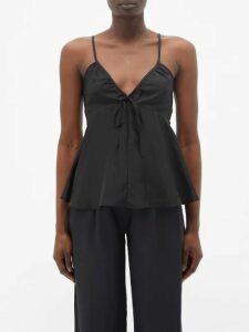 Burberry - Wallpaper Heritage Stripe Cotton Blouse - Womens - Beige Multi