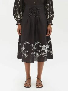 Burberry - Gingham Cotton Shirt - Womens - Black White