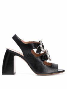 L'Autre Chose crystal buckle sandals - Black