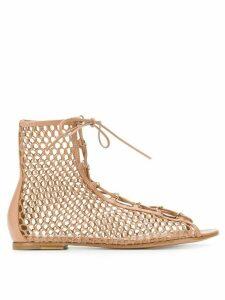 Gianvito Rossi Helena bootie sandals - NEUTRALS