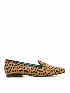 Blue Bird Shoes animal print loafers - NEUTRALS