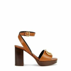 Valentino Garavani 100 Brown Logo Sandals