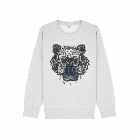 Kenzo Grey Beaded Cotton Sweatshirt
