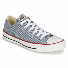 Converse  CHUCK TAYLOR ALL STAR STRIPES TEXTILE OX  women's Shoes (Trainers) in Blue
