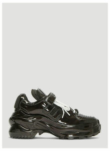 Maison Margiela Retro Fit Patent Leather Sneakers in Black size EU - 39