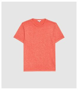 Reiss Kenny - Melange Crew Neck T-shirt in Hot Pink, Mens, Size XXL