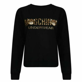 Moschino Leopard Print Logo Sweatshirt