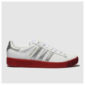 Adidas White & Red Forest Hills Trainers