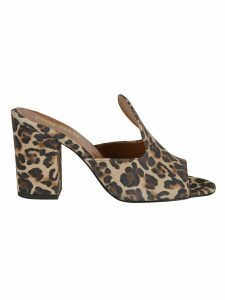 Paris Texas Leopard Mules