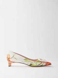 See By Chloé - Summer Floral-print Cotton Blouse - Womens - Green Multi
