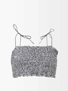 See By Chloé - Summer Floral Print Cotton Blouse - Womens - Ivory Multi