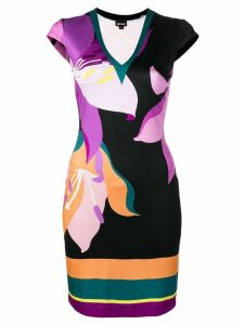 Just Cavalli floral fitted dress - Purple