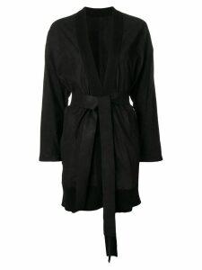 Isaac Sellam Experience suede cardi-coat - Black