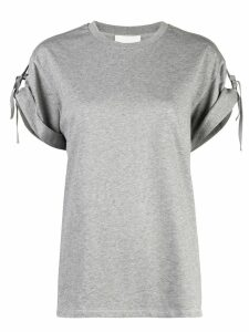 3.1 Phillip Lim Short Sleeved T-Shirt With Ties - Grey