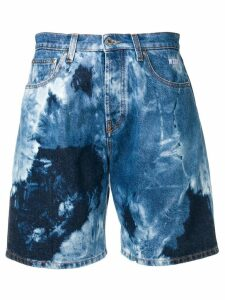 MSGM tie-dye shorts - Blue