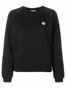 Maison Kitsuné Fox patch sweatshirt - Black