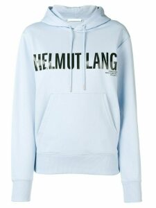Helmut Lang logo hoodie - Blue