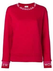 Moncler long neckline jumper - Red