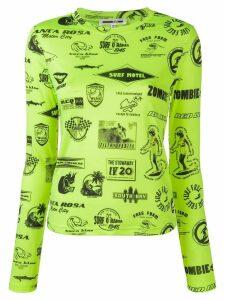 McQ Alexander McQueen Surf print jumper - Green