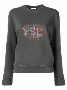 Saint Laurent YSL Disco sweatshirt - Grey