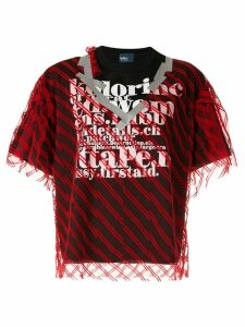 Kolor double layer T-shirt - Red