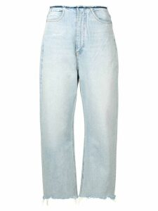 T By Alexander Wang frayed edges jeans - Blue