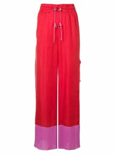 Diesel utility style palazzo trousers - Red