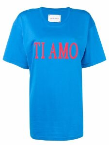 Alberta Ferretti 'Ti amo' printed T-shirt - Blue