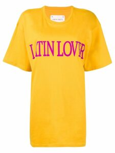Alberta Ferretti 'latin lover' printed T-shirt - Yellow