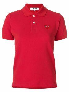 Comme Des Garçons Play logo polo shirt - Red