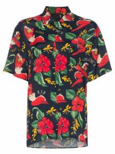 R13 hawaiian floral print shirt - Blue